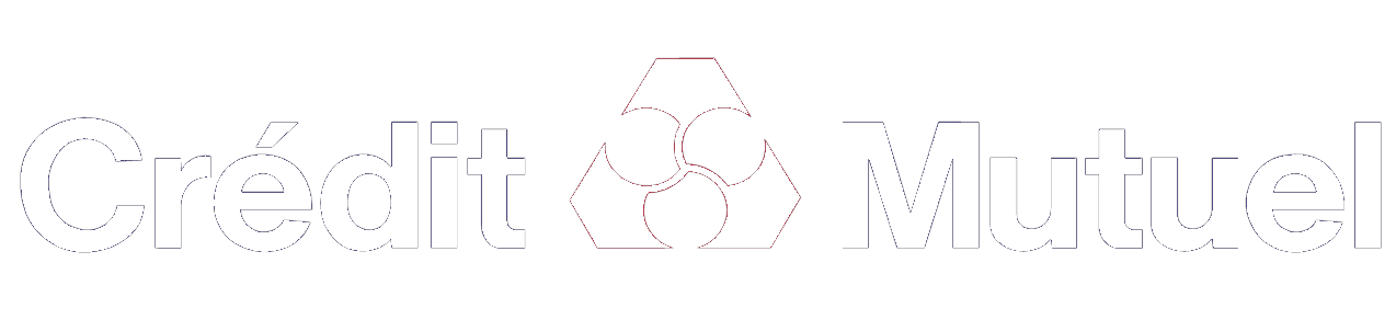 Credit mutuel logo blanc
