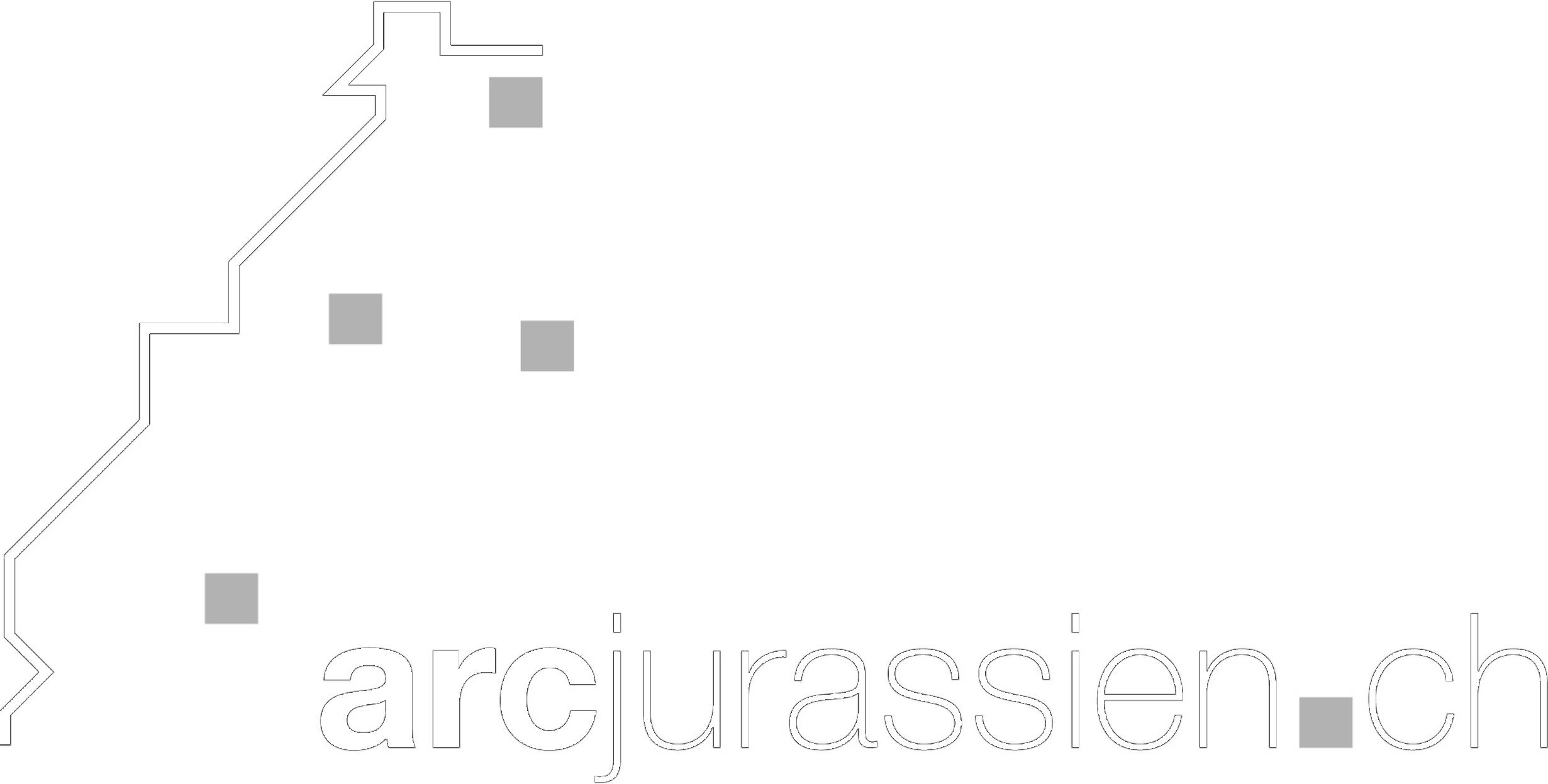 Arc Jurassien Logo Blanc