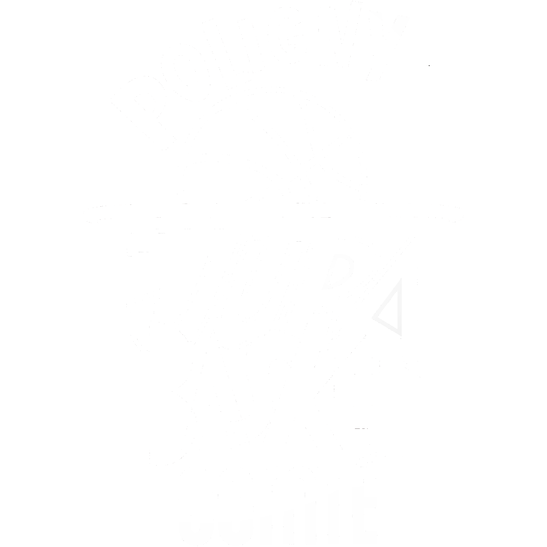 Poligny logo blanc